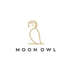 Canvas Prints Owls cartoon owl line vector logo design