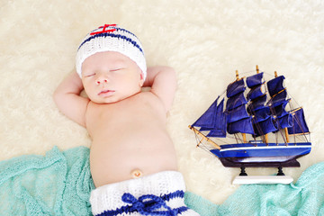 newborn  little sailor
