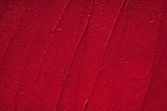 Red creamy lipstick texture