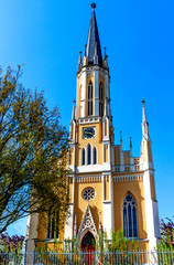 The Johanneskirche is a neo-Gothic, built from 1861 to 1865 Protestant church in Hesse Eltville-Erbach, a district of the sparkling wine, wine and rose town of Eltville on the Rhine, Germany