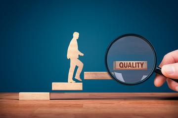 Fototapeta Coach focused on motivation to quality improvement obraz