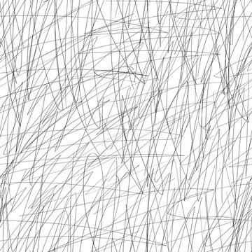 Vector doodle seamless scribble pattern, made of chaotic lines. Stylish black and white modern background