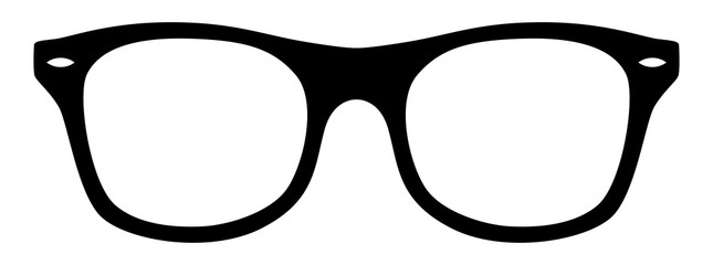 Fototapeta Nerd-Brille / schwarz-weiß / Vektor / freigestellt obraz
