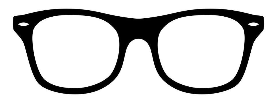 Nerd-Brille / schwarz-weiß / Vektor / freigestellt