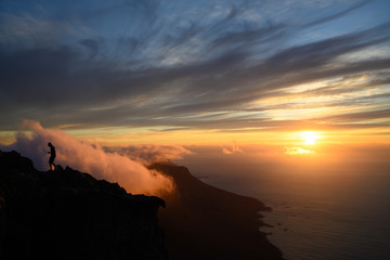 Sunset on Table Mountain, Cape Town South Africa