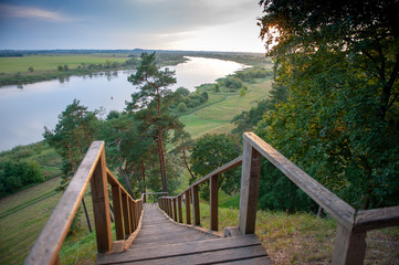 View from the Rambynas hill across the Nemunas river into Russian enclave Kaliningrad. Rambynas - the last remaining sacred place of Balts.