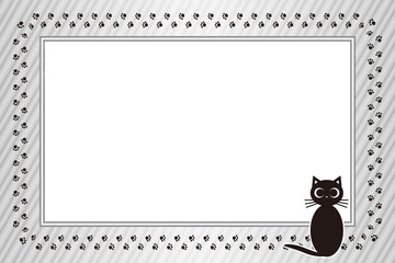 #Background #wallpaper #Vector #Illustration #design #free Photo frame,picture frame,copy space,character,text,message,title,sign,party,name plate,card,price tag メッセージ枠,猫,足跡,肉球,ペット,コピースペース,動物病院,広告宣伝