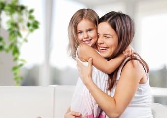 Fototapeta Happy Mother and daughter hugging obraz