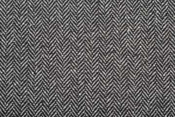 Aluminium Prints Fabric Herringbone tweed wool fabric as background