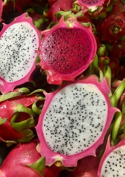 Pink and white Dragonfruit