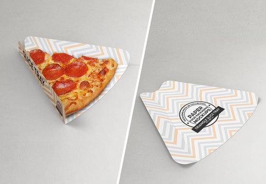 Pizza Slice Tray Mockup