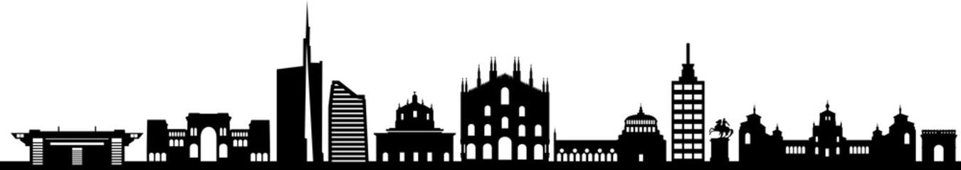 Fototapete - Mailand City Skyline Silhouette