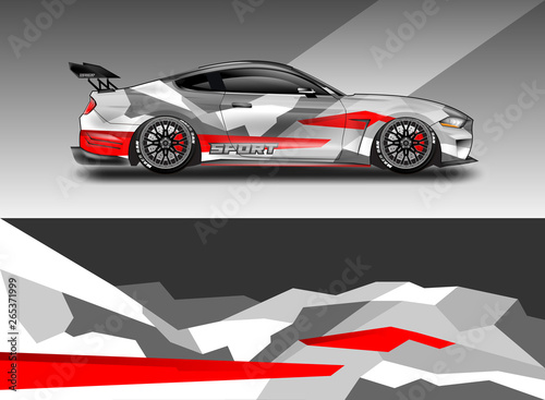 Sport Car decal wrap design vector  Graphic abstract stripe