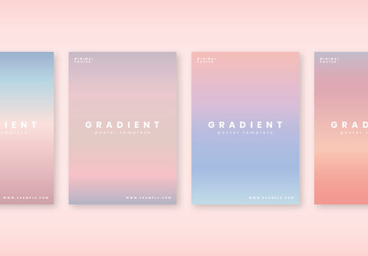 Gradient Poster Layouts with Minimal Type