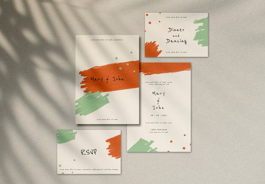 Wedding Invitation and RSVP Card Layout