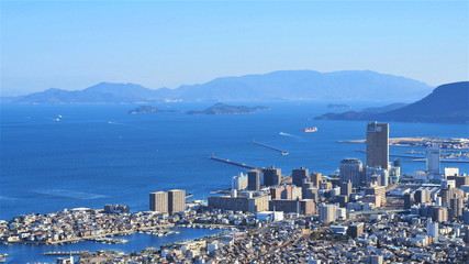 峰山からの高松市街地の眺め4