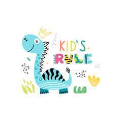 Funny dinosaur poster for kids