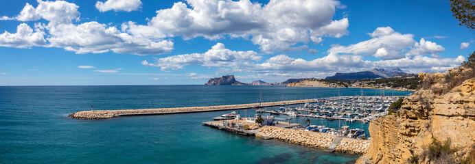 View from Moraira in Spain Fototapete