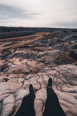 Drumheller HooDoos is a 0.5 kilometer heavily trafficked loop trail located near Drumheller, Alberta, Canada that features a cave, travel Alberta,Tourism