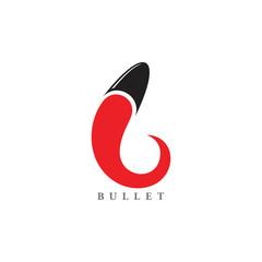 bullet simple motion curves logo vector