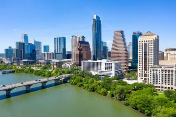 Fototapete - Austin Aerial Skyline