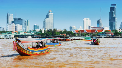 Photo sur Plexiglas Bangkok Boat on Chao Phraya river ,Bangkok,Thailand