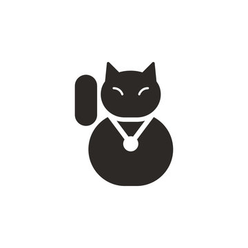Cat, lucky  vector icon. Simple element illustration from UI concept. Cat, lucky  vector icon. Finance concept vector illustration.