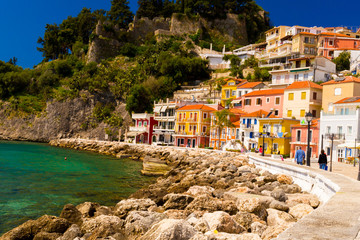 Fototapete - parga city greek tourist resort in preveza perfecture greece