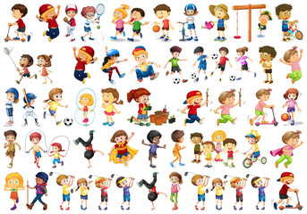 Poster Kids Set of children character