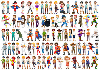 Set of people character Wall mural