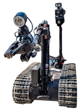 American military robot  developed  for the exchange of mines at the exhibition in the capital of Ukraine