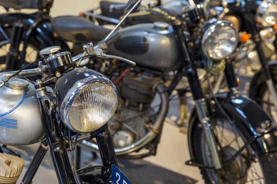 Vintage motorcycle - technology background