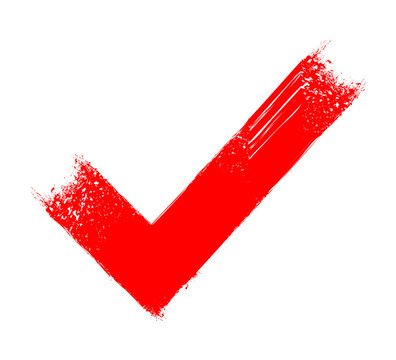 Red tick icon