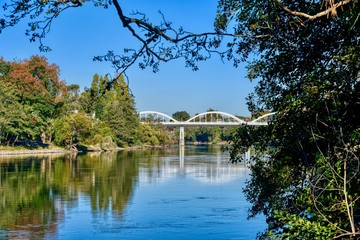 The Waikato River in Hamilton, New Zealand