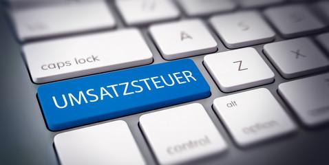 UMSATZSTEUER Button Taste auf Computer Tastatur