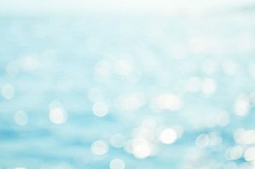 Blurred blue sea water for background, nature background concept. - Image