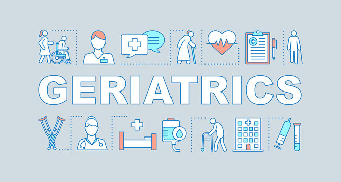 Geriatrics word concepts banner