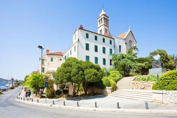 Sibenik, Croatia - Walking down to the promenade of Sibenik