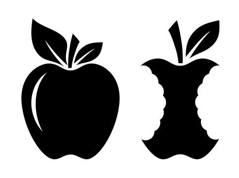 Apple and stub vector icon