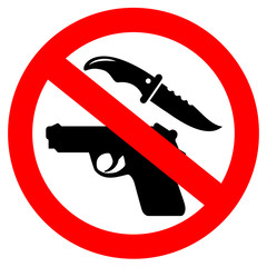 No weapons security vector icon