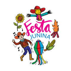 Festa Junina Poster (Brazilian June Festival) party decoration.
