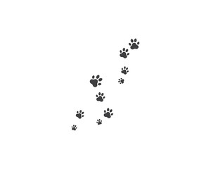 Paw background template vector