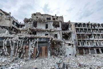 la ville  Alep en syrie après sa destruction