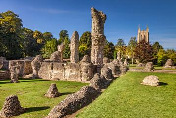 Bury St Edmunds Abbey and Cathedral, Cambridgeshire, England, UK