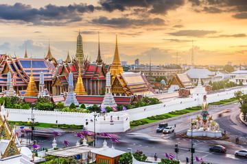 Bangkok, Thailand at the Temple of the Emerald Buddha and Grand Palace Wall mural