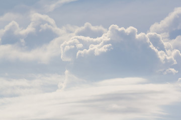 white cloud background and texture. strange cloud shape on sky. Fotoväggar
