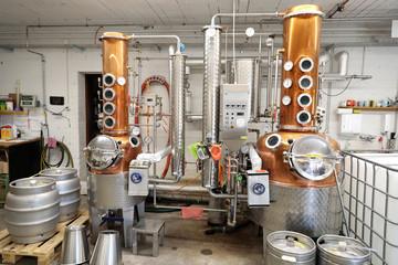 Türaufkleber Schiff destillerie