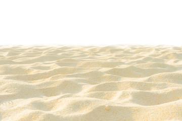 Fototapete - Fine beach sand in the summer sun on white screen