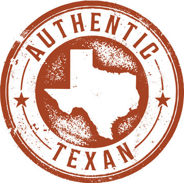 Authentic Texan Vintage Style Stamp