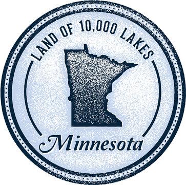 Vintage Minnesota State 10,000 Lakes Stamp